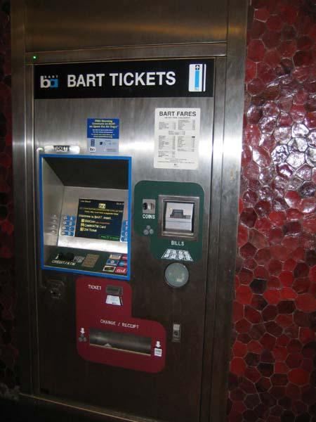 bart ticket machine