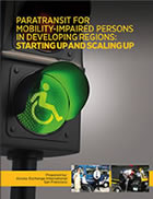 Front cover of new paratransit guide